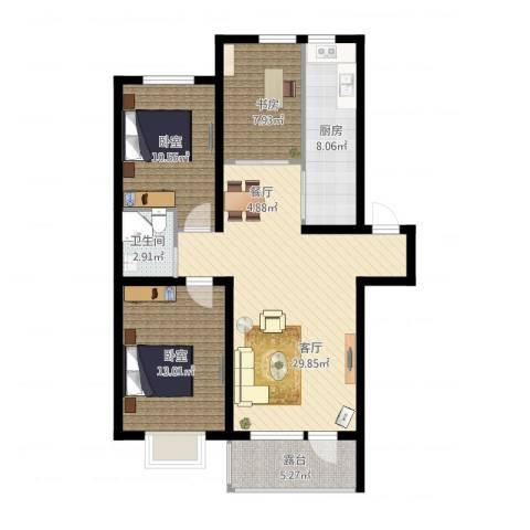 香醇・波尔多1室1厅1卫1厨110.00㎡户型图