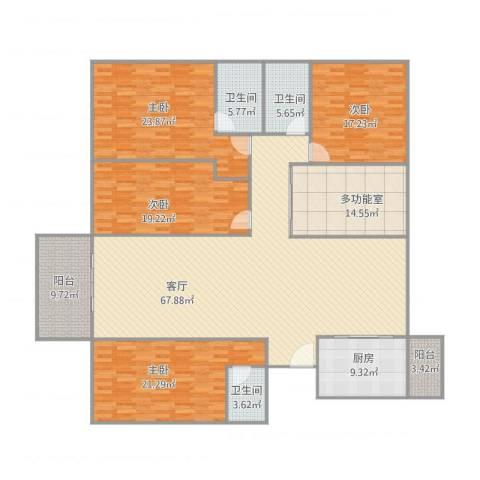 中海文华熙岸4室1厅3卫1厨268.00㎡户型图
