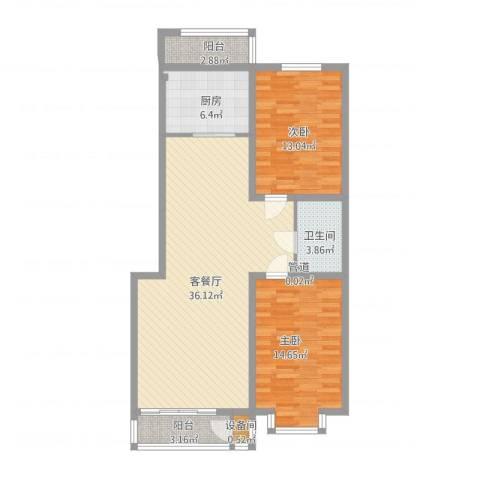 辰宇枫景瑞阁2室1厅1卫1厨92.15㎡户型图