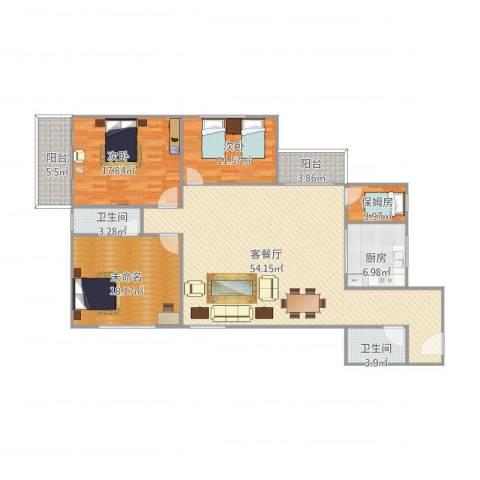 古楼广场2室1厅2卫1厨172.00㎡户型图