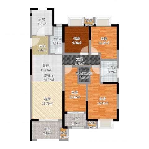 常发御龙山4室1厅2卫1厨171.00㎡户型图