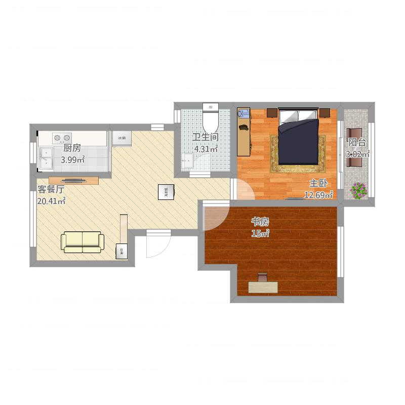 金谷园4#405两室一厅