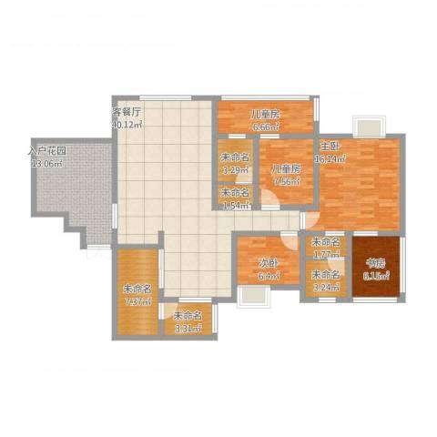 三江希望城5室1厅3卫4厨170.00㎡户型图