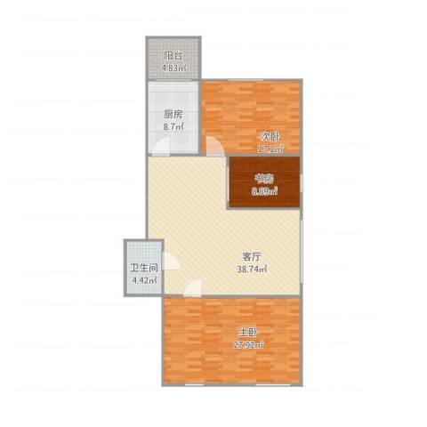 示范・和平家园1173室1厅1卫1厨146.00㎡户型图