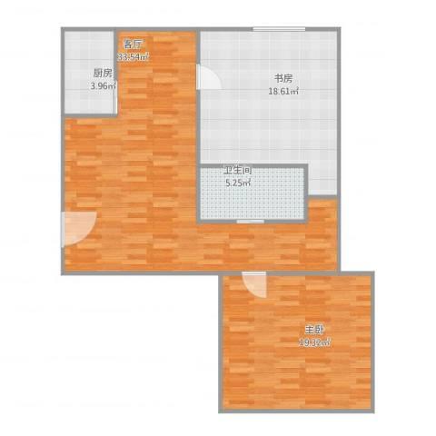 华夏奥韵2室1厅1卫1厨108.00㎡户型图