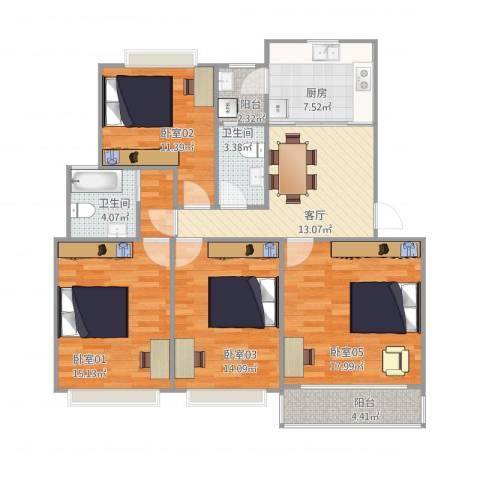 SHW15924302金銘福邸13-4021室1厅2卫1厨103.46㎡户型图