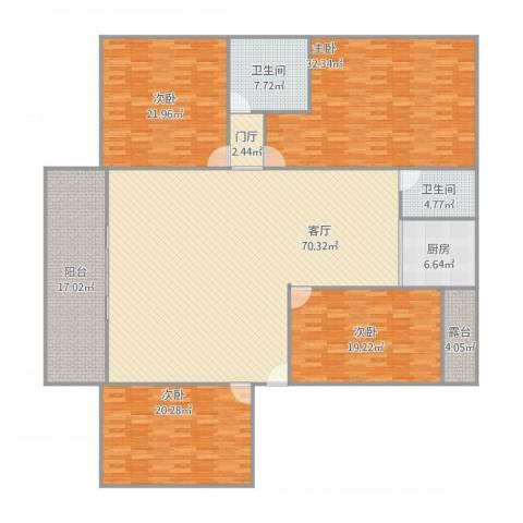 金丽花园4室1厅2卫1厨272.00㎡户型图