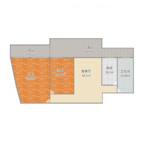金濠大厦2室1厅1卫1厨349.00㎡户型图