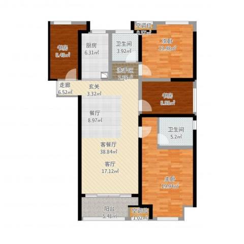 世茂国际广场4室1厅4卫1厨161.00㎡户型图