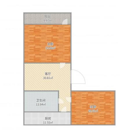 玉函小区2室1厅1卫1厨173.00㎡户型图