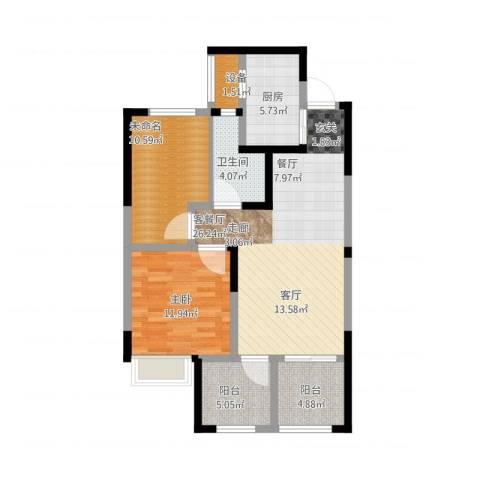 常发御龙山1室1厅3卫1厨102.00㎡户型图
