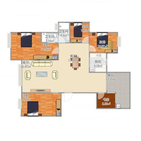 诚丰怡园5室1厅2卫1厨200.00㎡户型图