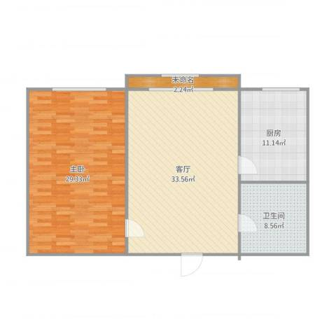 健美里1室1厅1卫1厨112.00㎡户型图