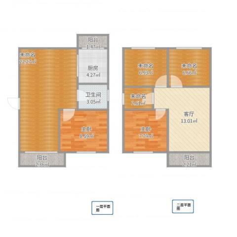 嘉城新航域2室1厅1卫1厨111.00㎡户型图