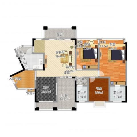 爱加・西西里 爱加 西西里3室1厅2卫1厨189.00㎡户型图