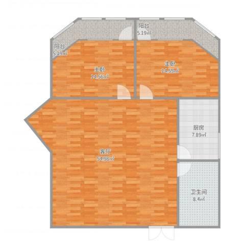 华侨大厦2室1厅1卫1厨146.00㎡户型图