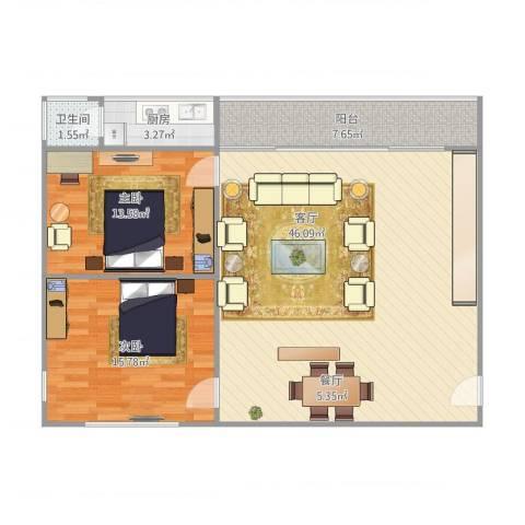 影荫阁2室1厅1卫1厨116.00㎡户型图