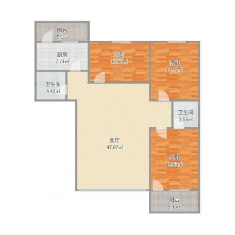亲仁路25号8023室1厅2卫1厨155.00㎡户型图