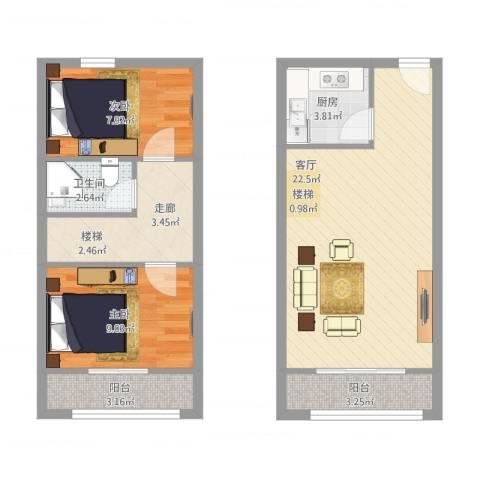 首邑溪谷2室1厅1卫1厨83.00㎡户型图