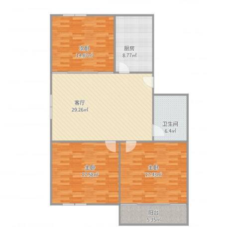 育秀五区4B甲5023室1厅1卫1厨133.00㎡户型图