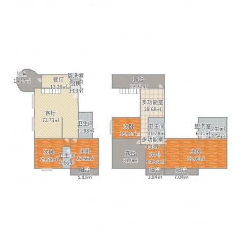 锦都花园5室3厅3卫1厨539.00㎡户型图