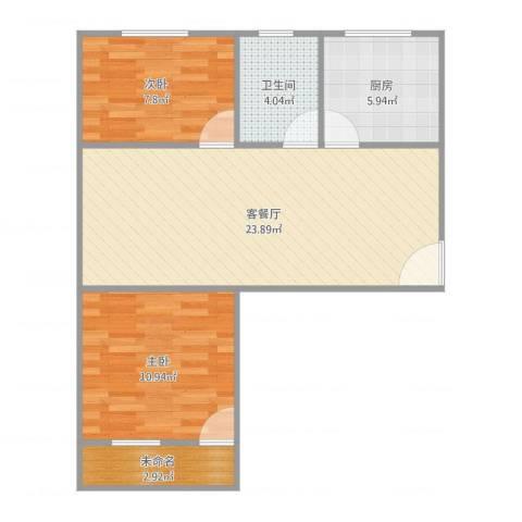 联丰新苑2室1厅1卫1厨75.00㎡户型图