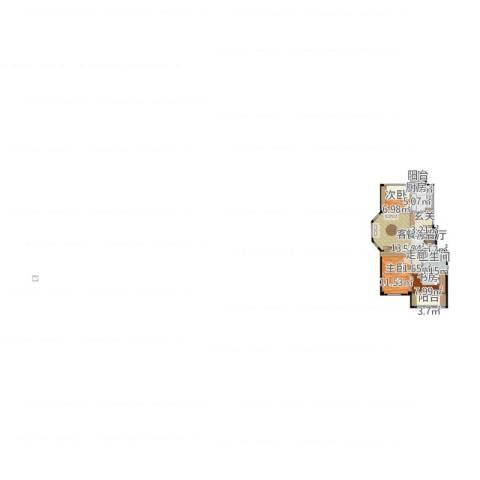 三鼎春天3室1厅1卫1厨88.00㎡户型图