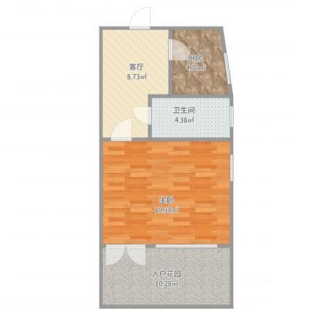 开鲁四村1室1厅1卫1厨63.00㎡户型图