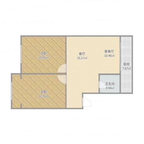 威尼斯花园2室1厅1卫1厨119.00㎡户型图