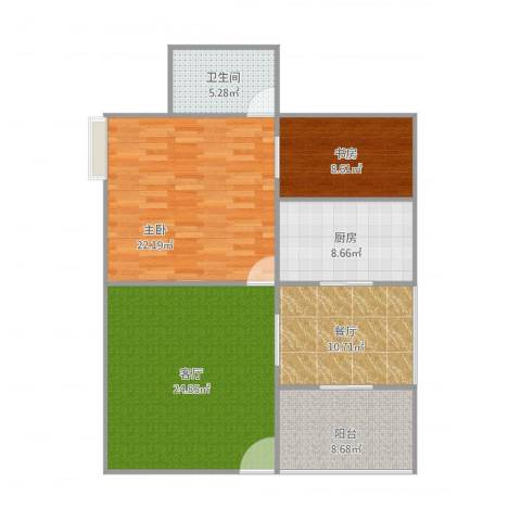 荣京丽都2室2厅1卫1厨119.00㎡户型图