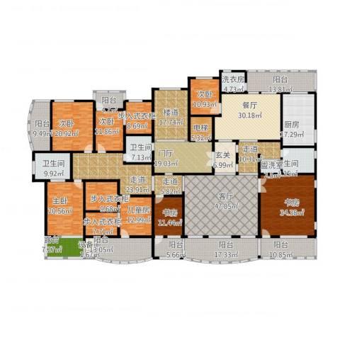 华源贝鸟逸轩7室3厅3卫1厨638.00㎡户型图