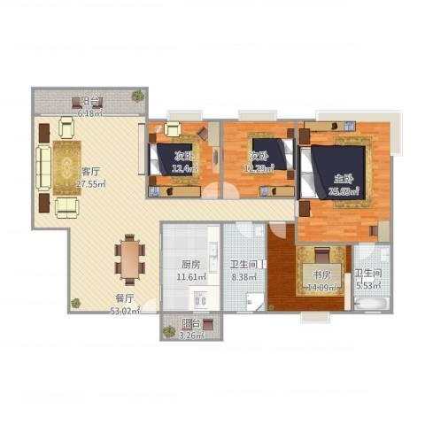 东骏豪苑4室1厅2卫1厨203.00㎡户型图