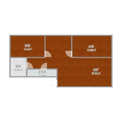 经开四区2室1厅1卫1厨93.00㎡户型图
