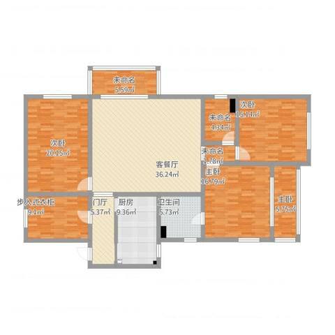 景泰大楼4室1厅3卫2厨194.00㎡户型图