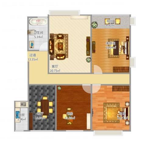 浐灞1号2室2厅1卫1厨115.00㎡户型图