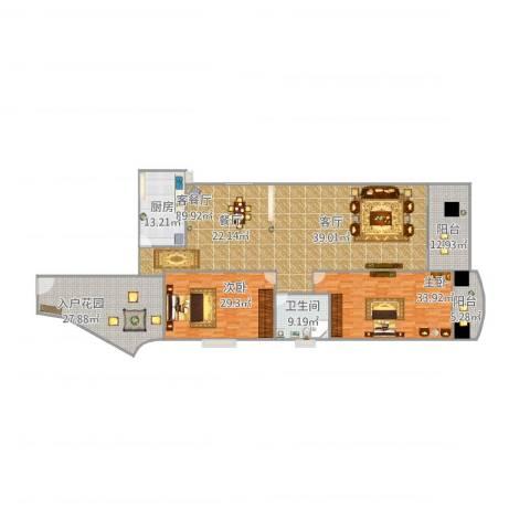 未来海岸蓝月湾1012室1厅1卫1厨294.00㎡户型图