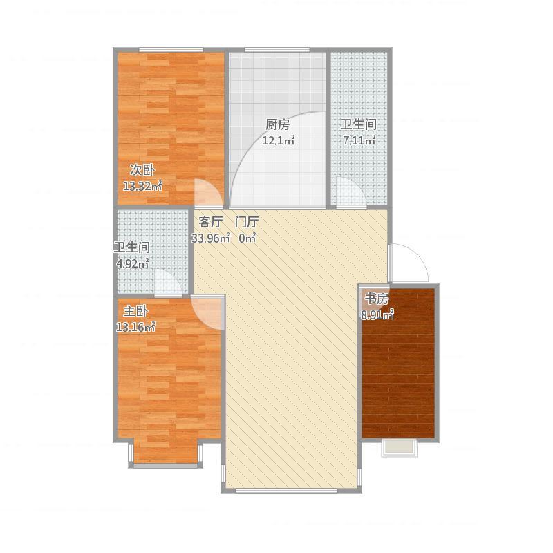 库伦旗日新花园小区三室一厅两卫
