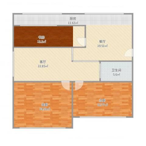 文萃轩小区3室1厅1卫1厨151.00㎡户型图