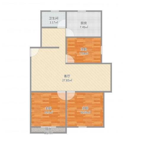 莱阳新家园18号3013室1厅1卫1厨93.00㎡户型图