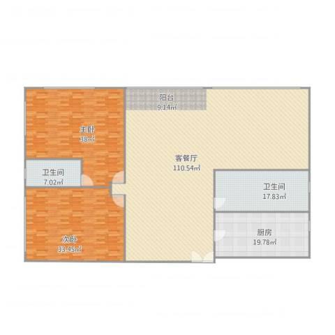 丽晶大厦8062室1厅2卫1厨295.00㎡户型图