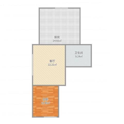 御景名都1室1厅1卫1厨92.00㎡户型图
