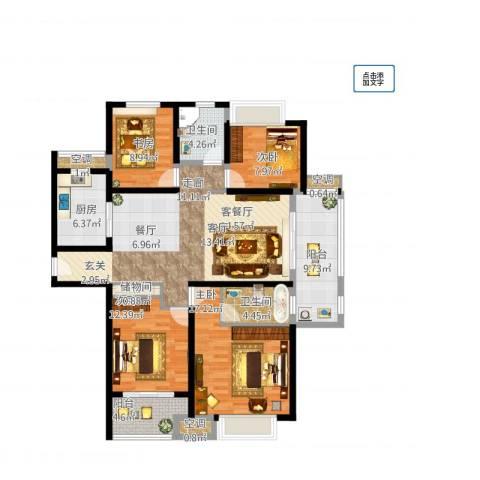 农房澜山4室1厅2卫1厨165.00㎡户型图