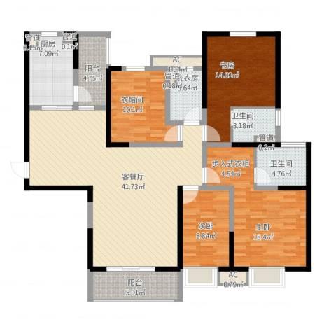 龙腾小区3室1厅8卫1厨181.00㎡户型图