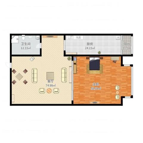 天通・公园里1室1厅1卫1厨234.00㎡户型图