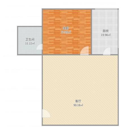 华远东路21室1厅1卫1厨206.00㎡户型图