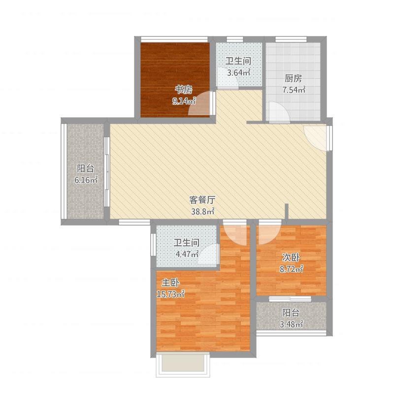 唐山_23082-C2-111㎡_2016-01-24-1044