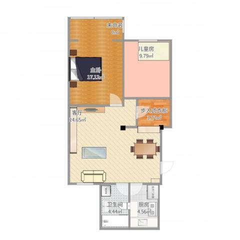 天住山小区2室1厅1卫1厨86.00㎡户型图