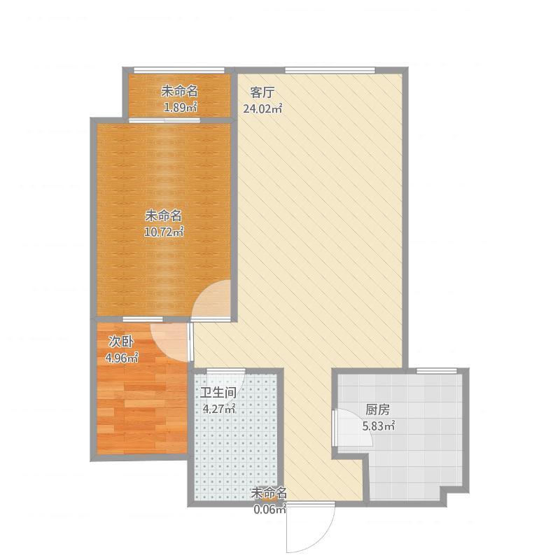 居然之家两室一厅80平A户型