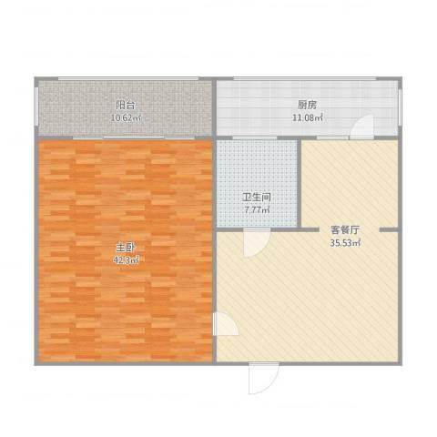 义西小区1室1厅1卫1厨141.00㎡户型图