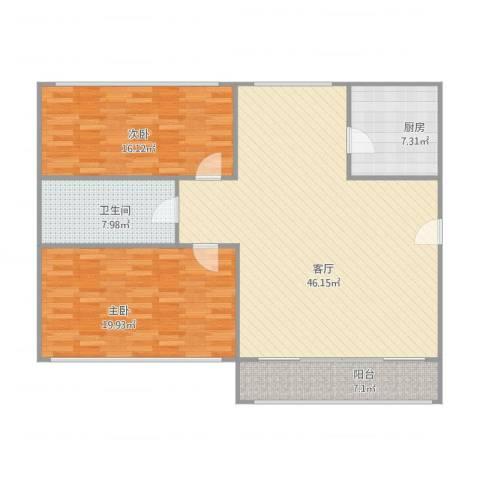 景云巷2室1厅1卫1厨139.00㎡户型图